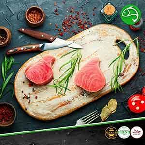 Fresh Tuna steak meatonclick