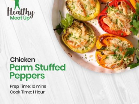 CHICKEN PARM STUFFED PEPPERS
